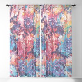 Fiona Floral Sheer Curtain
