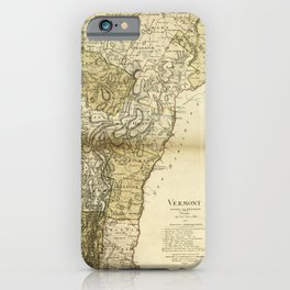 Map of Vermont by Carl Ernst Bohn (1796) iPhone Case