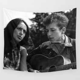 Bob Dylan and Joan Baez at the March on Washington, 1963 Wall Tapestry