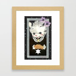 Collar and Cuffs handcut collage Framed Art Print