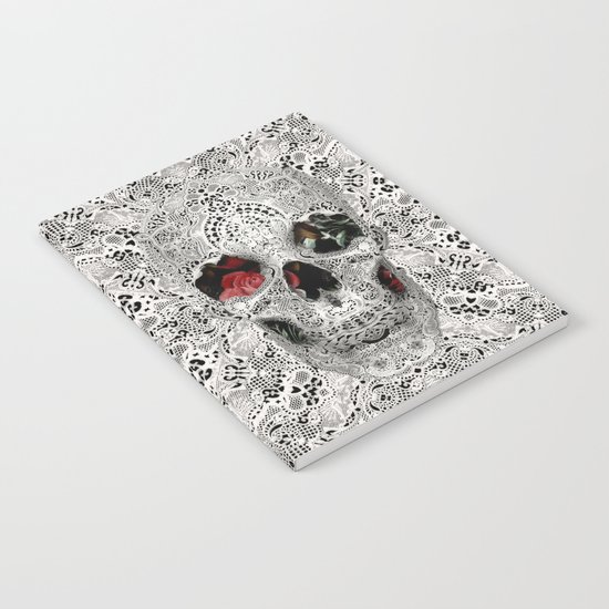 Lace Skull Light Notebook