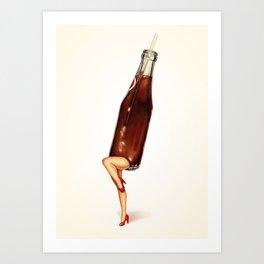 Soda Girl Art Print