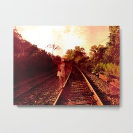 Partition the empty sky Metal Print