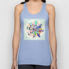 Abstract Color Wheel Unisex Tank Top