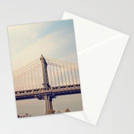 Sunset over Manhattan x Manhattan Bridge Stationery Cards