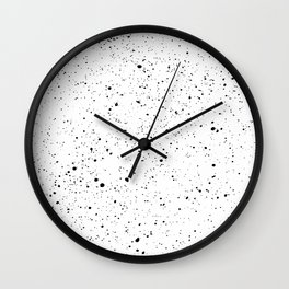 BLACK INK SPLOTCHES Wall Clock