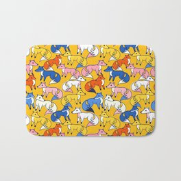 Colored foxes pattern - animals series Bath Mat