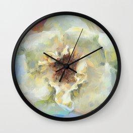 Coastal Rose Wall Clock