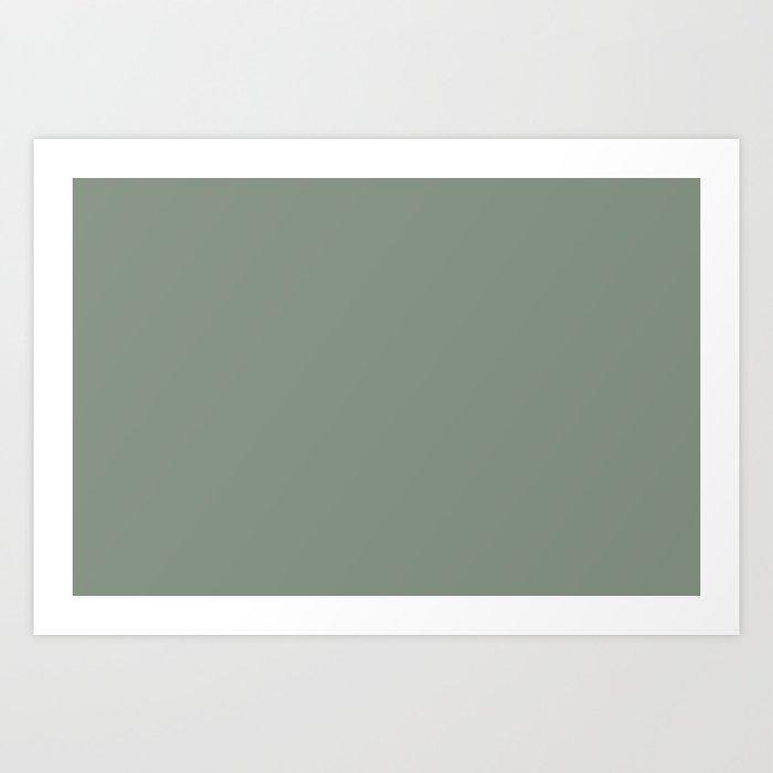 Green Pantone #839182 Art Print