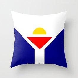 Saint Martin Flag Throw Pillow