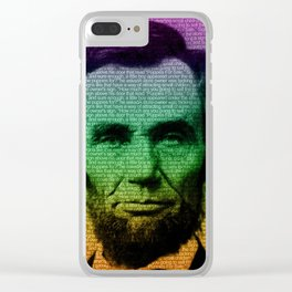 Abraham Lincoln Pop Art Clear iPhone Case