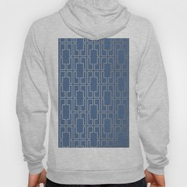 Simply Mid-Century in White Gold Sands and Aegean Blue Hoody