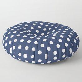 Polka Dot Navy And White Floor Pillow