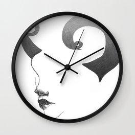 horns. Wall Clock