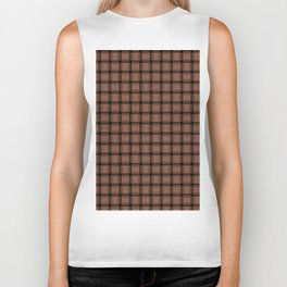 Small Dark Brown Weave Biker Tank