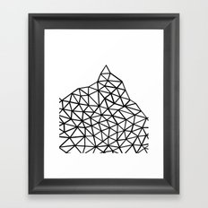 Seg Mountain Framed Art Print