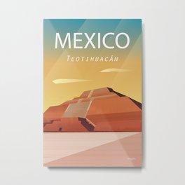 Mexico Teotihuacan Metal Print