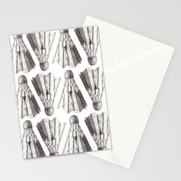 Badminton Shuttlecocks Pencil Drawing Stationery Cards
