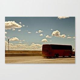 Charter Bus Canvas Print