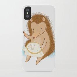 Hedgehog stitching a hedgehog iPhone Case