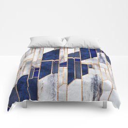 Blue Winter Sky Comforters