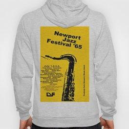Vintage 1965 Newport, R.I Jazz Festival Advertisement Poster Hoody
