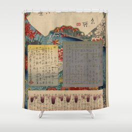 Table of Contents by Ando Hiroshige Shower Curtain