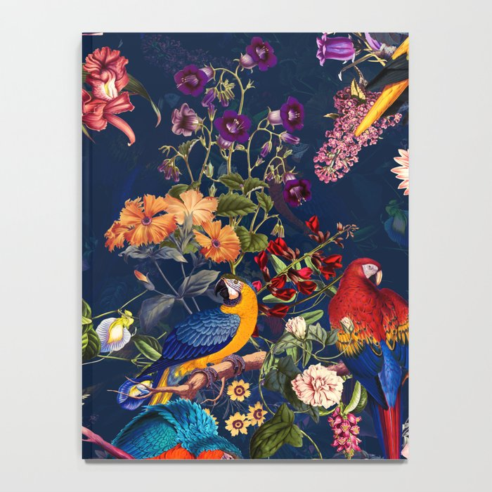 FLORAL AND BIRDS XII Notebook