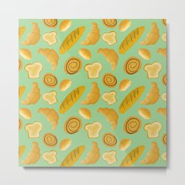 Bread lovers pattern // carb lovers pattern // food pattern Metal Print