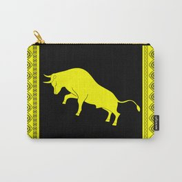 ethnic yellow pattern with taurus Carry-All Pouch