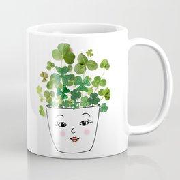 Shamrock Face Vase Coffee Mug