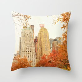 Autumn - Central Park - Fall Foliage - New York City Throw Pillow