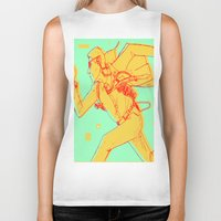 runner Biker Tanks featuring Runner by gallerydod