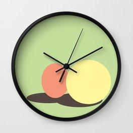 Minimal Shadow Play Red Yellow Green Wall Clock