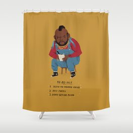 T to-do-list. Shower Curtain