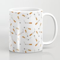 cigarettes Mugs featuring Cigarettes by Abby Galloway