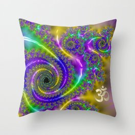 OM - Multi Color Throw Pillow