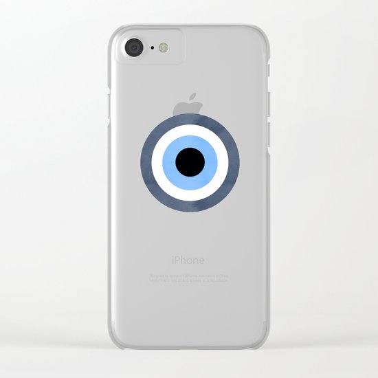 Evil Eye Clear iPhone Case