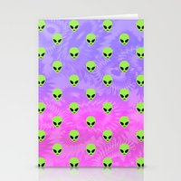 aliens Stationery Cards featuring Aliens by Miss Taralee