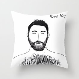 Beard Boy: Stelios Throw Pillow
