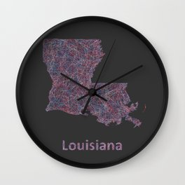 Louisiana Wall Clock