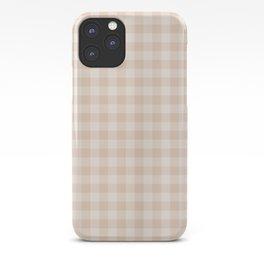 Gingham Pattern - Warm Neutral iPhone Case