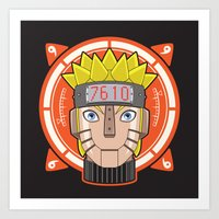 naruto Art Prints featuring Mecha Naruto by Enrique Valles