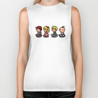 earthbound Biker Tanks featuring Earthbound Guys by likelikes