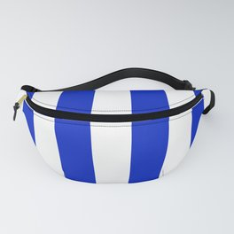 Cobalt Blue and White Wide Circus Tent Stripe Fanny Pack
