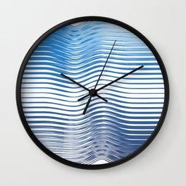Boho Geometric Ocean minimal blue Wall Clock