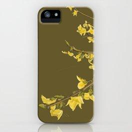 The Yellow Irish Bush iPhone Case