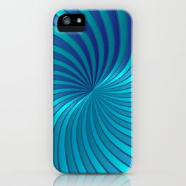 Blue Spiral Vortex G213 iPhone Case