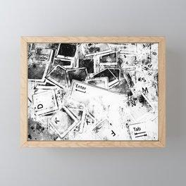 keyboard keys letters wsbwi Framed Mini Art Print