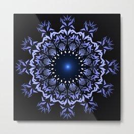 Mandala snowflake. Metal Print